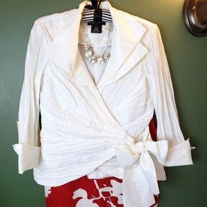 Cachet formal or evening top w/tie front sz 6